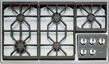 Wolf CT36GS  Natural Gas Sealed Burner Style Cooktop, in Stainless Steel
