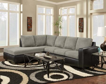 Chelsea Home Furniture 193650SECSG Hartford Series Sofa and Chaise Fabric Sofa