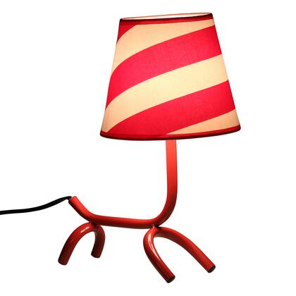 "LumiSource Woof LS-L-WFTBL 13"" Table Lamp with Whimsical Puppy Design, Fabric Shade and Metal Frame in"