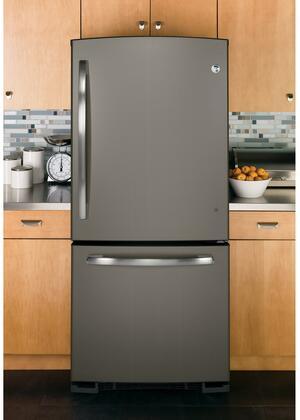 Ge Gde20gmhes 30 Inch Slate Series Slate Bottom Freezer