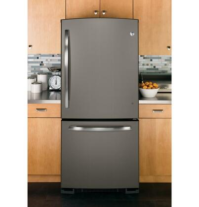 Ge Gde20gmhes 30 Inch Slate Series Bottom Freezer