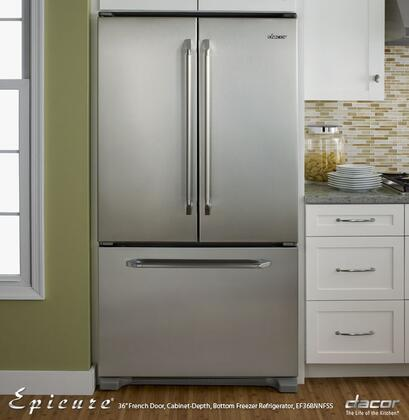 Dacor EF36BNNFSS Renaissance Series Counter Depth French Door Refrigerator with 19.9 cu. ft. Capacity in Stainless Steel