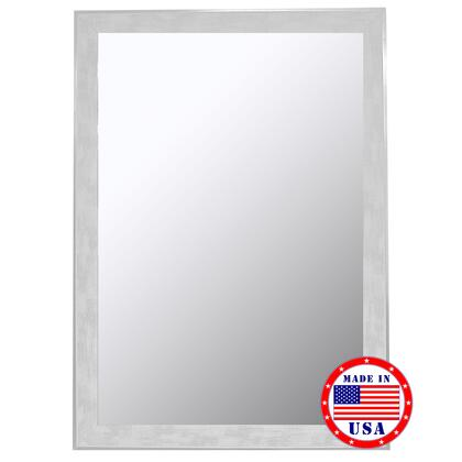 Hitchcock Butterfield 80490X 2nd Look Scratched Wash White & Silver Trim Framed Wall Mirror