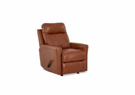 "Klaussner Ikon Collection LV91603HRRC 29"" Leather Reclining Rocking Chair with Single Chair Cushion, Cowhide & Vinyl Upholstery and Track Arms in"