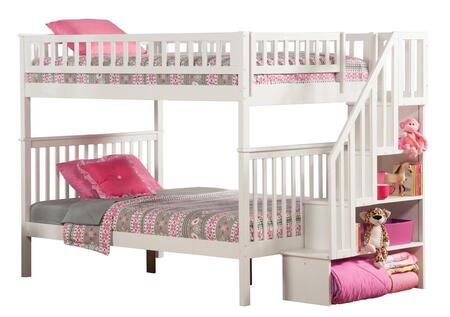 Atlantic Furniture AB5680 Woodland Staircase Bunk Bed Full Over Full