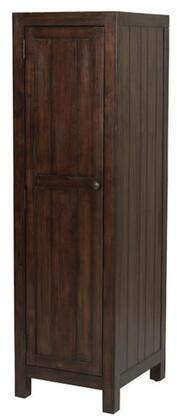 """Donny Osmond Home Lancaster Collection 204298 19"""" Wardrobe Cabinet with 5 Cedar Lined Shelves, 1 Door, Jewelry Hooks, Mirror on Door, Solid Mahogany Wood and Acacia Veneer Materials in Wire-Brushed Acacia Cocoa Finish"""