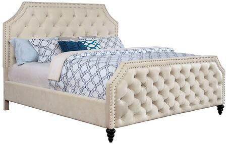 Furniture of America CM7675FBED Claudine Series  Full Size Panel Bed