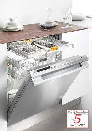 """Miele G5975SC 24"""" Fully Integrated Dishwasher with Visible Control Panel, 16 Wash Programs, 3D Cutlery Tray, 16 Place Settings, Built-In Water Softener, 37 dBA ExtraQuiet and Delay Start in"""