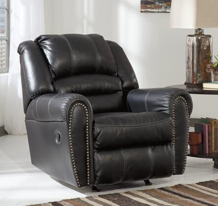 Milo Italia Darius MI-5875ATMP Rocker Recliner with Nail-Head Trim Accents, Jumbo Stitching and Plush Divided Back in