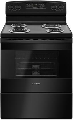 """Amana ACR4503SF 30"""" Freestanding Electric Range with 4.8 cu. ft. Capacity offering Self Clean, Oven Lockout, Sabbath Mode and Storage Drawer, in"""