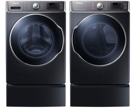Samsung Appliance SAM4PCFL30G2PEDBKKIT1 9100 Washer and Drye