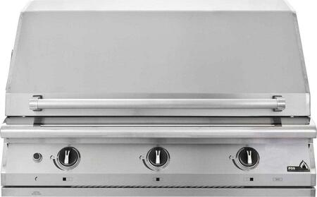 "PGS S36 PGS Legacy 39"" Pacifica Grill Head with 67,000 BTU, and Heavy Duty Stainless Steel Rock Grates"