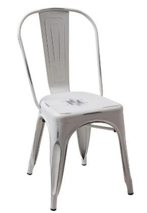 VIG Furniture VGCBT5816VTGWHT Modrest Series Modern Metal Frame Dining Room Chair