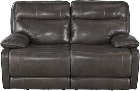 Signature Design by Ashley U7260174 Palladum Series Leather Reclining with Metal Frame Loveseat