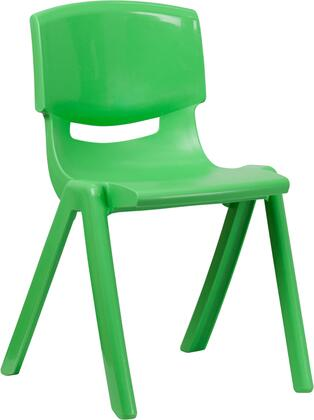 """Flash Furniture YU-YCX-007-XX-GG Plastic Stackable School Chair with 18"""" Seat Height, 265 lb. Static Load Capacity, Lightweight Design, Easy To Clean, and Stacks up to 5 Chairs High"""