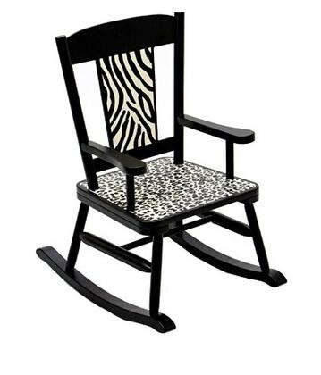 Levels of Discovery LOD71000  Armless  Wood Frame Fabric Rocking Chair
