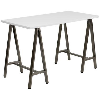 Flash Furniture NANJN2834WXXGG Computer Desk with Brown Frame