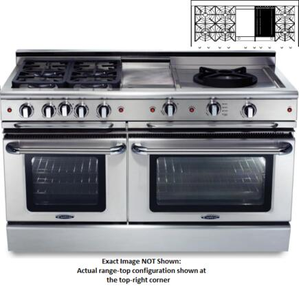 "Capital CGSR604GB2L 60"" Culinarian Series Gas Freestanding"