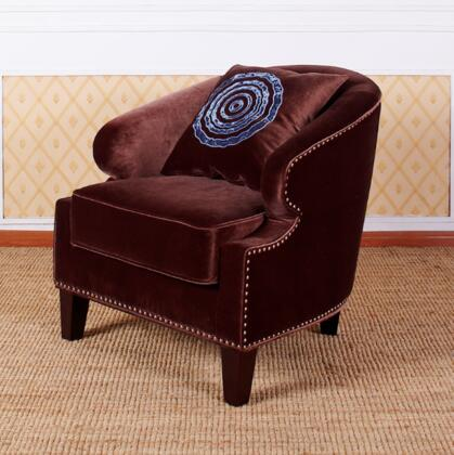 Armen Living LC730CLBR Contessa Series  in Brown