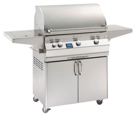 "FireMagic A540S6E1X62 Aurora 62.25"" Portable Grill with E-Burners, Back Burner, Side Burner, and Digital Thermometer"