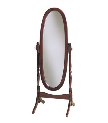 """Powell 59"""" Tall Cheval Floor Mirror with Adjustable Full-Length, Tilting Feature, Eucalyptus and Pine Wood Materials in"""