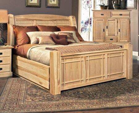 AAmerica AHINT Amish Highlands Arch Panel Bed with Storage, Full Extension Metal Ball Bearing  Drawer Glides and Cedar Lined storage Drawers in Natural Finish,