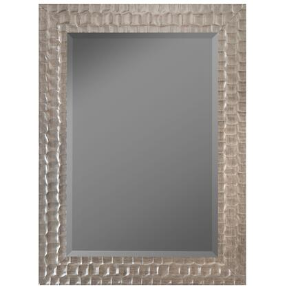 Hitchcock Butterfield 68260X Reflections Canadian Ripple Silver Grande Framed Wall Mirror