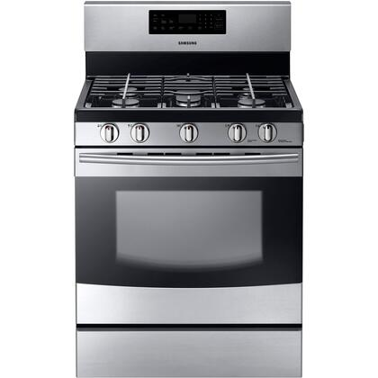 "Samsung Appliance NX56H9500WS 30"" Gas Freestanding Range with"
