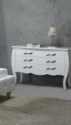 VIG Furniture VGKCMONTEWHTDR Modrest Monte Carlo Series Wood Dresser