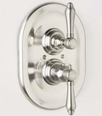 Rohl A4909XM Country Bath Collection Trim Only for Therm/Volume Concealed Valve, Cross Handle: