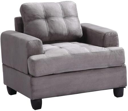 Glory Furniture G513AC Suede Armchair in Grey