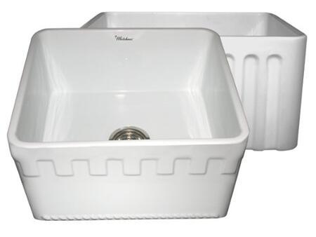 Whitehaus WHFLATN2018BL Kitchen Sink