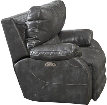 """Catnapper Sheridan Collection 51"""" Power Lay Flat Recliner with Power Headrest, Luggage Stitching, Control Panel Technology and Polyurethane Fabric Upholstery"""