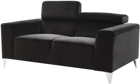 Glory Furniture G336L Suede Stationary with Metal Frame Loveseat