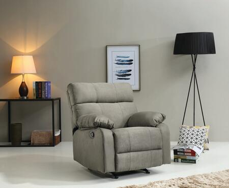 """Glory Furniture G54 Collection 37"""" Rocker Recliner with Pub Back, Removable Arms and Micro Suede Upholstery"""