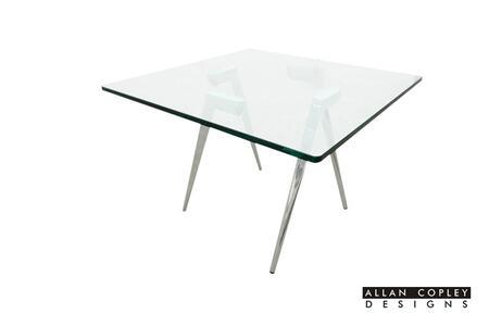 Allan Copley Designs 2080102 Sonya Series Contemporary Square End Table