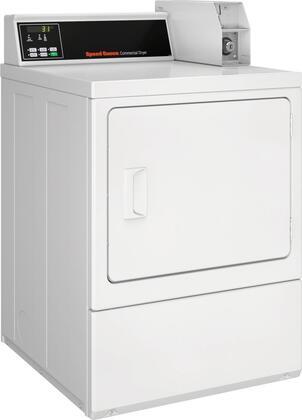 Speed Queen SDNCRGS113TW02 Single Load Dryer with 7 Cu. Ft. Capacity, Rear QUANTUM Controls, Reversible Solid Door, in White