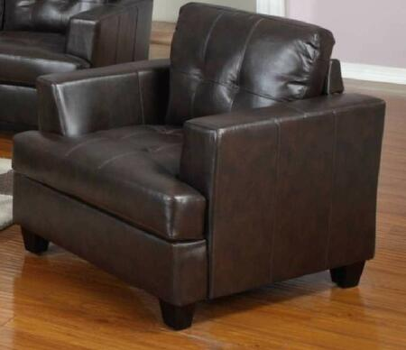 Yuan Tai 1080CCHO Caleb Series Leather Chair with Wood Frame in Chocolate
