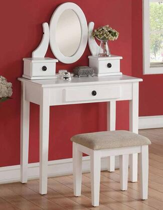 Acme Furniture 90147 Jayle Series Wood 3 Drawers Vanity