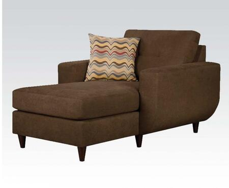 Acme Furniture 52334 Eusebia Series Contemporary Fabric Wood Frame Chaise Lounge