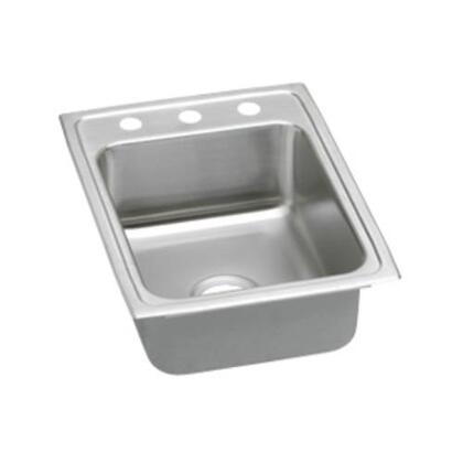 """Elkay LRAD1722600 17"""" Top Mount Self-Rim Single Bowl ADA Compliant 18-Gauge Stainless Steel Sink"""