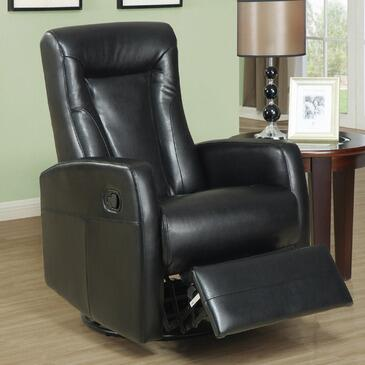 Monarch I 8082 Swivel Rocker Recliner, with Comfortably Padded, and Bonded Leather Upholstery