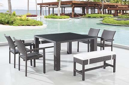 Global Furniture USA T0772SQDTSET Patio Tables