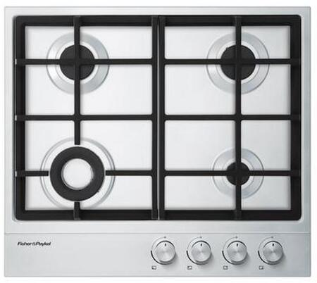 "Fisher Paykel CG244DNGX1 24""  Gas Sealed Burner Style Cooktop, in Stainless Steel"