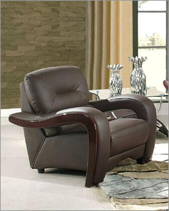 Global Furniture USA 992RVBRCH Ultra Bounded Leather with Wood Frame