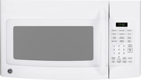 GE JVM1740DPWW 1.7 ft Over the Range Microwave Oven with 300 CFM, 1000 W Cooking Watts, in White
