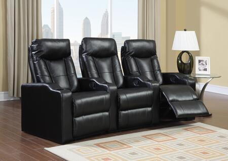 Myco Furniture CA9503BK Camden Series Reclining Bonded Leather Sofa