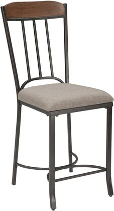 Signature Design by Ashley D507124 Zanilly Series Residential Fabric Upholstered Bar Stool