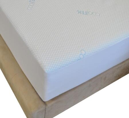 Rest Rite SASCTVCP116 Thomasville Cool Mattress Protector White Fabric