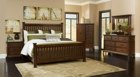 Broyhill 4364QPOSTER2NCDM Estes Park Queen Bedroom Sets